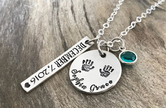 Personalized birthstone necklace, Custom name necklace, Christmas gifts for mom,