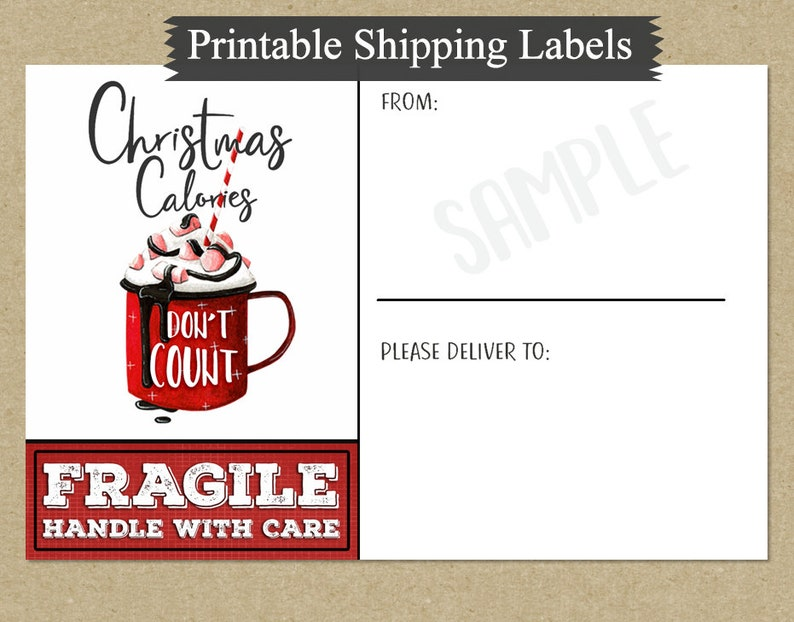 image relating to Printable Fragile Labels known as Printable 4x6 Xmas Delivery Labels Quotation Term Artwork - Mailing Labels - Xmas Deal with Labels - PDF - PNG - Electronic Stickers