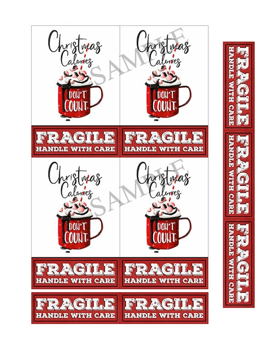 graphic about Fragile Printable identified as Printable 4x6 Xmas Shipping and delivery Labels Estimate Term Artwork - Mailing Labels - Xmas Protect Labels - PDF - PNG - Electronic Stickers