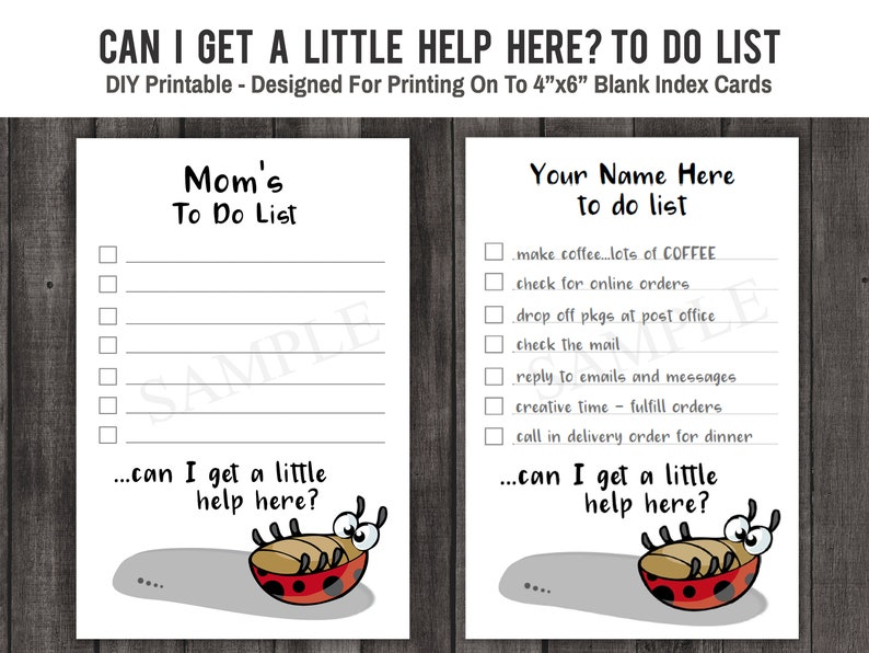 Funny Names List: Funny Ladybug To Do List Printable Quote Can I Get A
