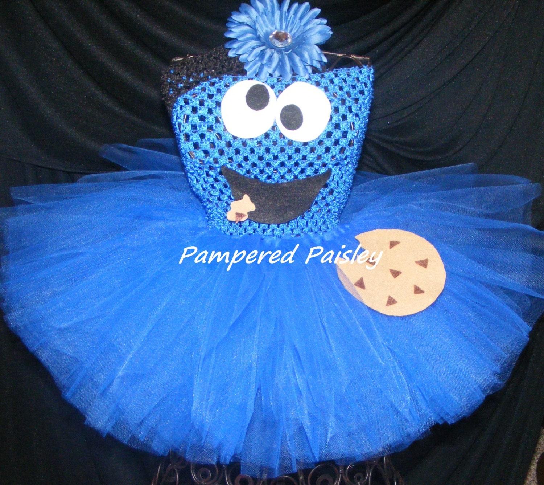 cookie monster inspired tutu dress monster tutu blue tutu | etsy