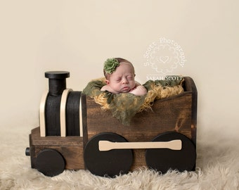 Wooden Train Photography Prop