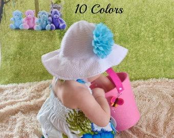 daea5d4c Baby Girl Sun Hat, UPF +25 Sun Hat, Girls Sun Hat, Toddler Sun Hat, Sunhat, Newborn  Sun Hat, Sun Hats for Baby Girls, Hats Baby