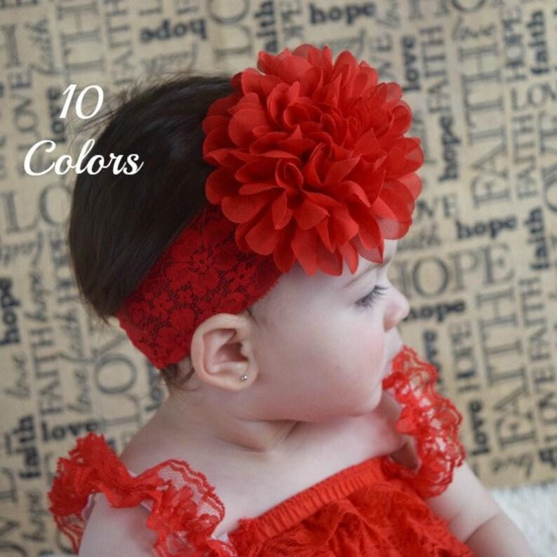 d0277f26186111 Blumenstirnband rote Stirnband Baby Mädchen Stirnbänder | Etsy