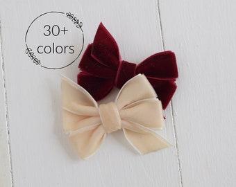 Velvet Hair Bow, Pinwheel Bow, Hair Bow, Velvet Bow Headband, Velvet Hair Clip, Hair Bows for Girls, Girls Headbands, Hair Bows, Hairbow