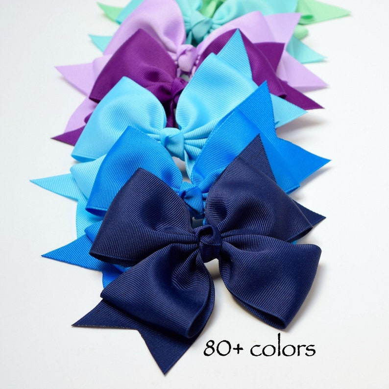 26dfeded6 6 inch Split-Tail Bow Clip or Nylon Headband Hair Bows for   Etsy