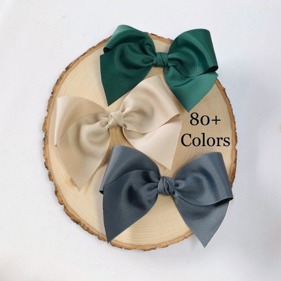 6 Inch Hair Bows Oversized School Girl Bow Solid Color Hair Bows