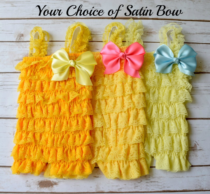 756d121ba6bd Yellow Romper Cake Smash Outfit Girl 1st Birthday Girl