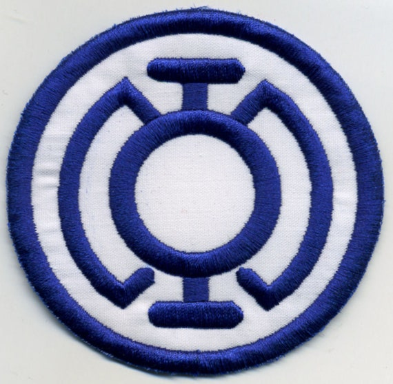 35 Blue Lantern Corps Classic Style Embroidered Patch Etsy
