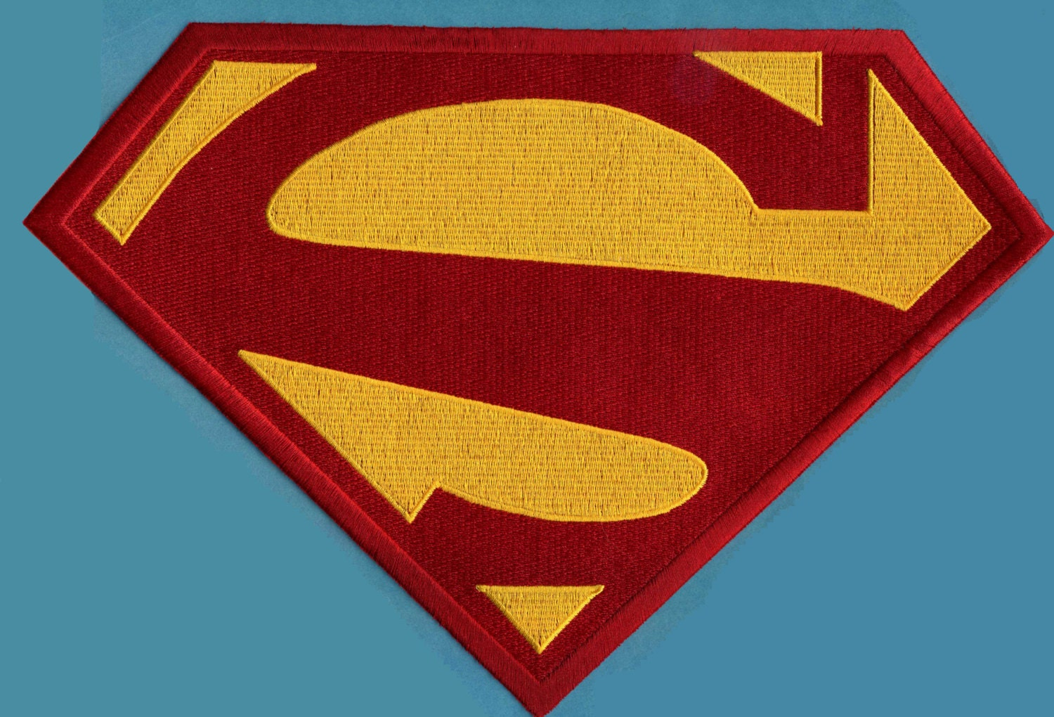 78x1175 X Large Embroidered Superman New 52 Red Etsy