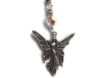 Fairy Car Ornament, Swarovski Crystal Car jewelry, Swarovski Gift, Swarovski Sun Catcher with Fairy