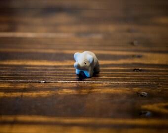 Adorable Little Clay Elephant Animal Figure
