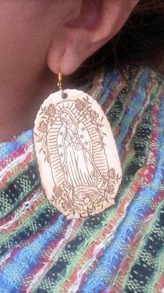 Virgen de Guadalupe Wood Keychain Lasercut
