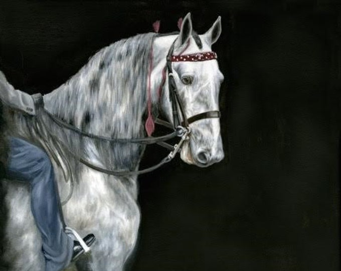 original Horse oil painting Nicolae Art Nicole Smith Artist Equine Art saddlebred show horse saddleseat