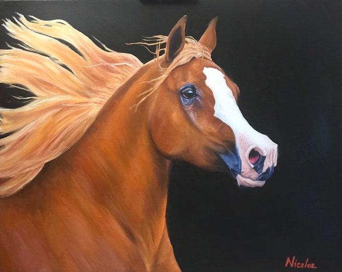 "Equine Art Nicole Smith horse artist Fine art high quality Giclee reproduction of original artwork ""Daughter of the Desert"""