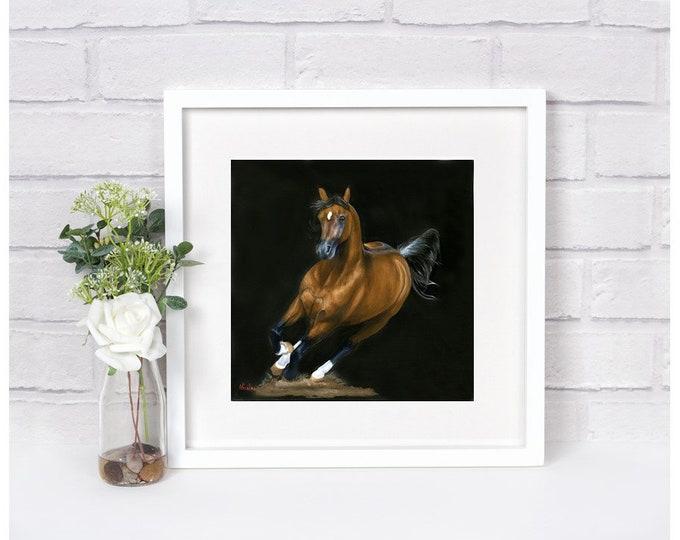 "Nicole Smith Artist Horse Art Original Equine Giclee reproduction high quality print ""Diamond of the Desert"" 10x10"
