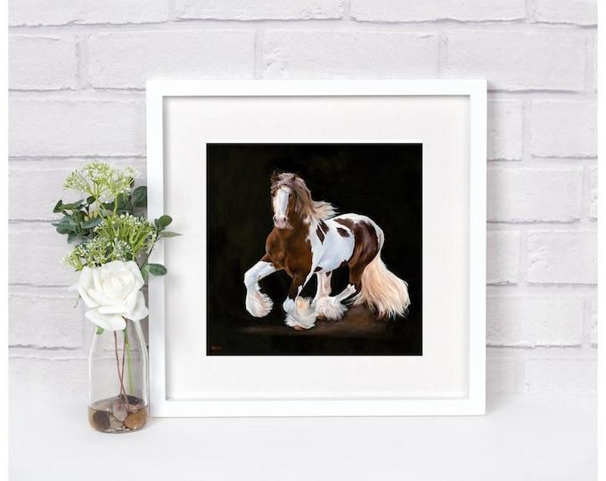 "Nicole Smith Artist Horse Art Original Equine Giclee reproduction high quality print ""Silver Spirit"" 14x14"