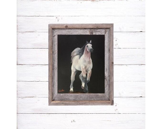 Horse Art dapple Arabian horse original oil painting on canvas 8x10 by Nicole Smith