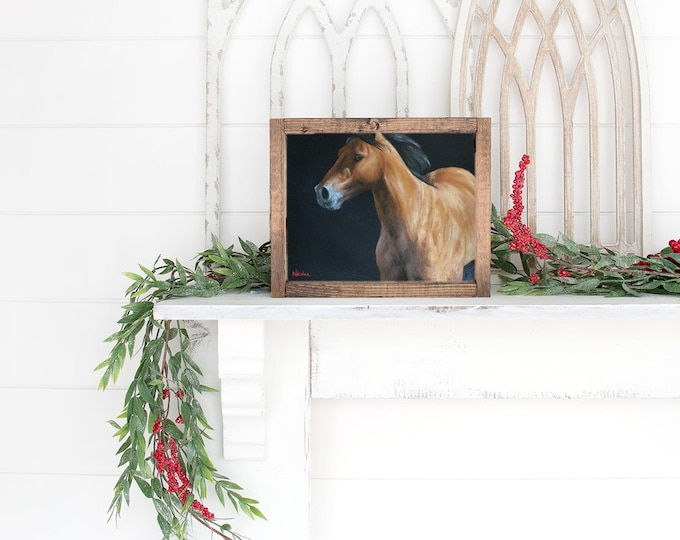 Original horse oil painting Nicolae Equine Art Buckskin Nicole Smith Artist 8x10 stallion