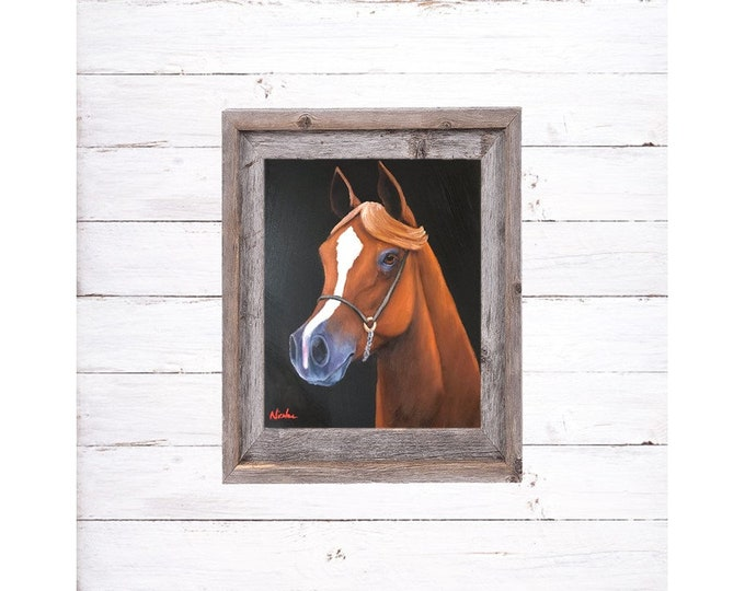 Original horse oil painting Nicolae Equine Art Arabian horse Nicole Smith Artist 8x10