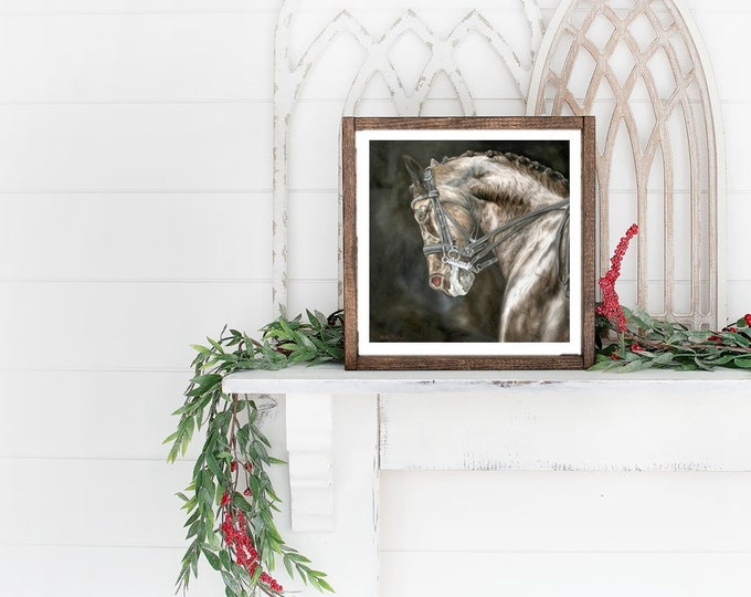 "Dressage Horse Art High Quality Print 10x10 ""Precision"" by Nicole Smith"
