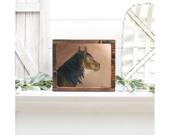Original horse oil painting Nicolae Equine Art horse Nicole Smith Artist 8x10