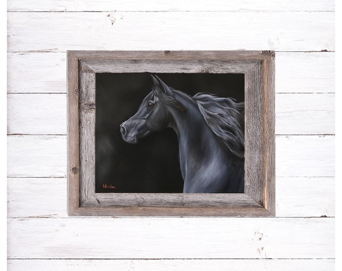 original arabian Horse oil painting by Nicolae Art