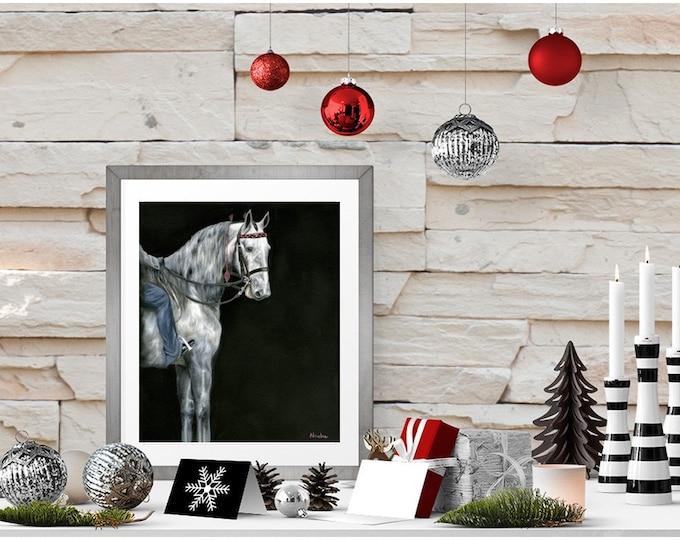"Saddlebred wall art Giclee print of original horse painting ""Did I win?"" 8x10"