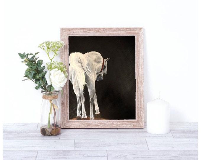 Original horse oil painting Nicolae Equine Art Arabian horse Nicole Smith Artist 14x18