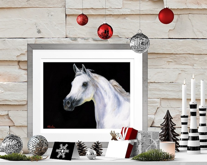 """Nicole Smith Artist Horse Art Original Equine Giclee reproduction high quality print """"Daughter of the Wind"""" 11x14"""