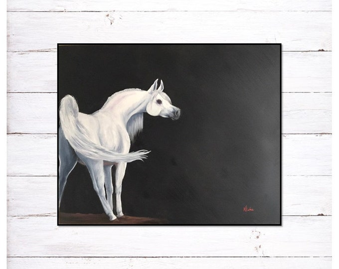 Original horse oil painting Nicolae Equine Art Arabian horse Nicole Smith Artist 24x30
