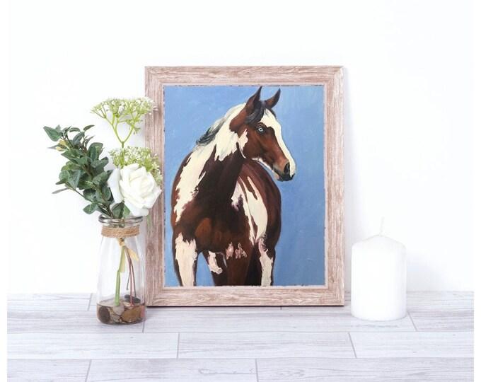 Original horse oil painting Nicolae Equine Art Paint horse Nicole Smith Artist 8x10