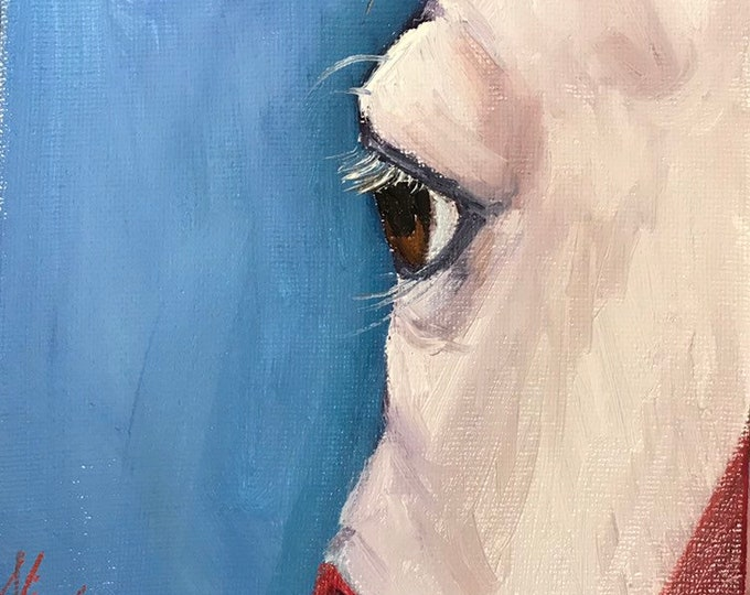"Original Horse eye oil painting on canvas by Nicolae Art ""Primary Eye study"" 6x6"