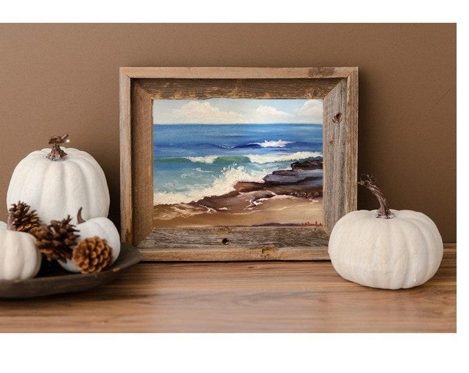 Original landscape oil painting Nicolae seascape Art Ocean Nicole Smith Artist 8x10