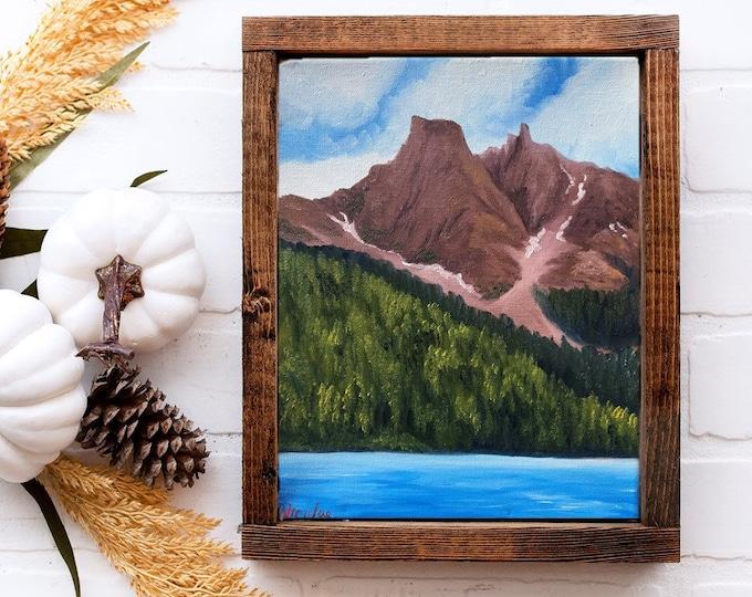 Original Mountain landscape oil painting Nicolae Art Nicole Smith Artist 8x10