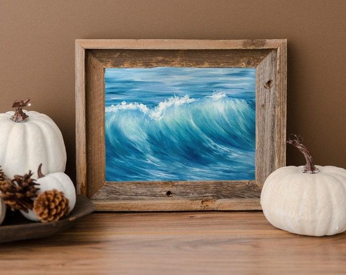Original ocean oil painting Nicolae seascape Art Ocean waves turquoise water Nicole Smith Artist 8x10