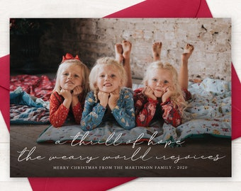 Hope Christmas Card Etsy