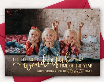 The Christmas Card.Photo Christmas Card Etsy