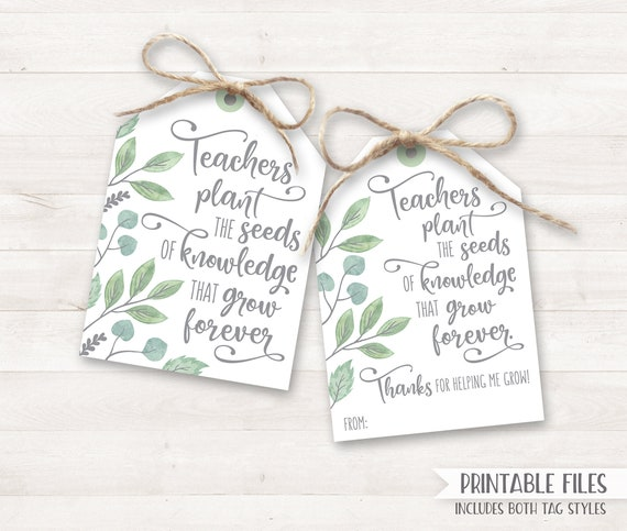 graphic relating to Thank You Cards for Teachers Printable identify Again in the direction of University PRINTABLE Instructor Appreciation Present Tags
