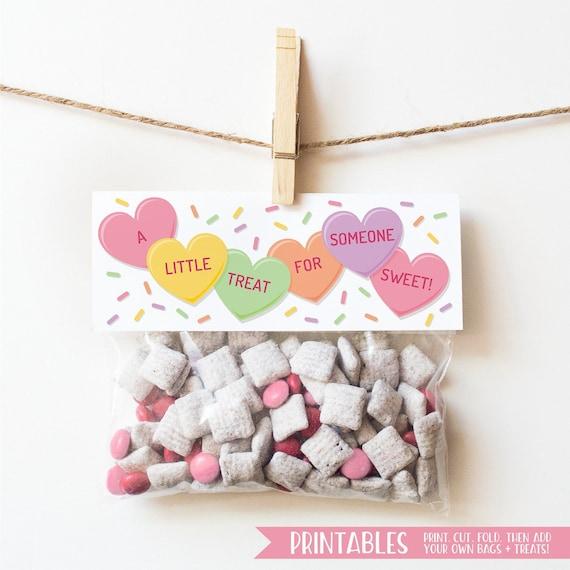 PRINTABLE Valentines for Kids Printable Valentine Treat Bag