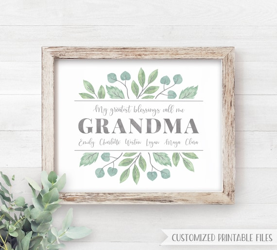 Mothers Day Gift For Grandma Printable Personalized Grandma Gift Ideas Grandmother Gift From Kids Gift For Her Blessings Call Me Nana Gigi By Lemonade Design Studio Catch My Party,Vital Proteins Collagen Peptides Unflavored 240 Oz