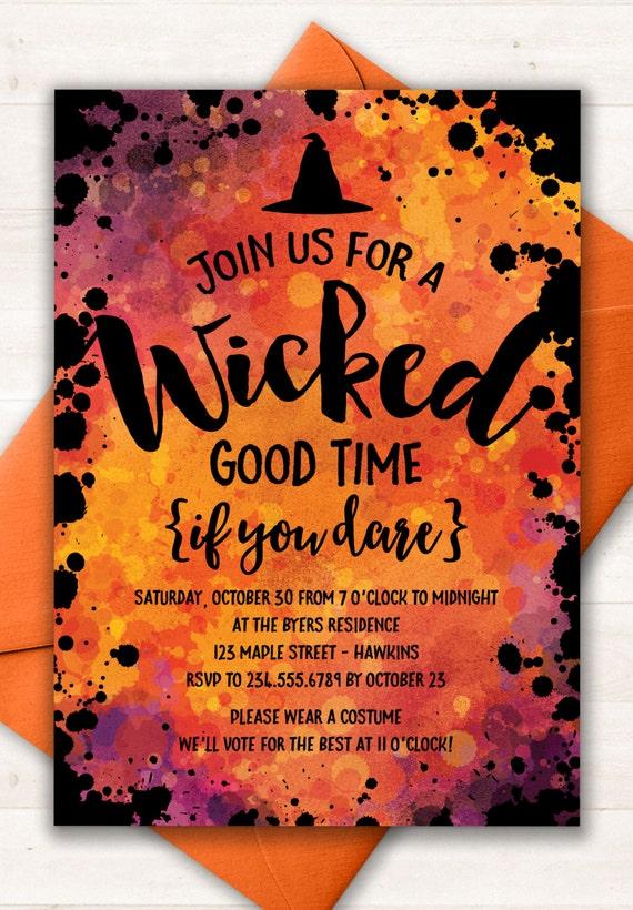 Halloween Invitation Party Invitations