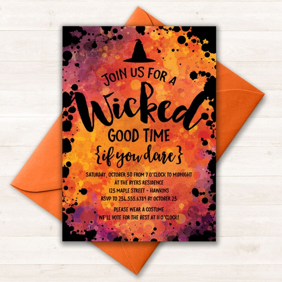 image relating to Halloween Invitations Printable titled Halloween Invitation, Halloween Bash Invites, Halloween