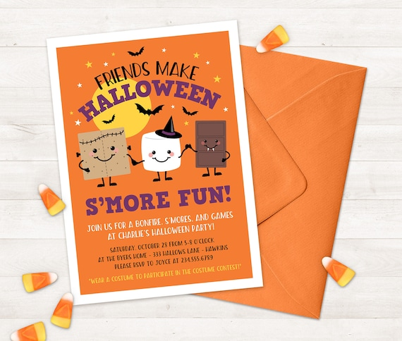 photograph relating to Printable Halloween Birthday Invitations identified as Halloween Invitation for Small children Printable halloween get together