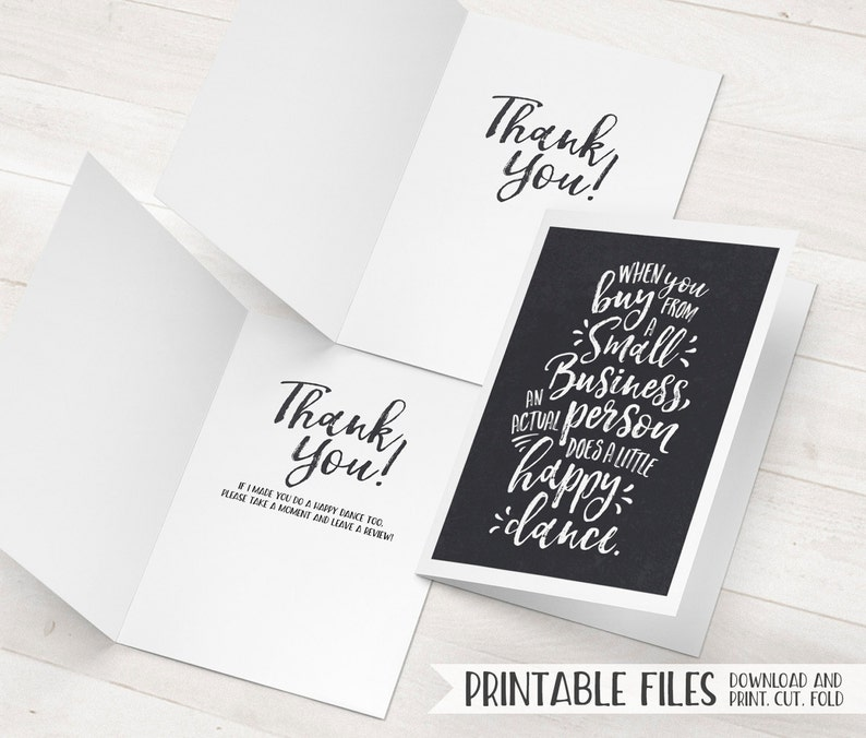 Business Thank You Card Small Cards Printable