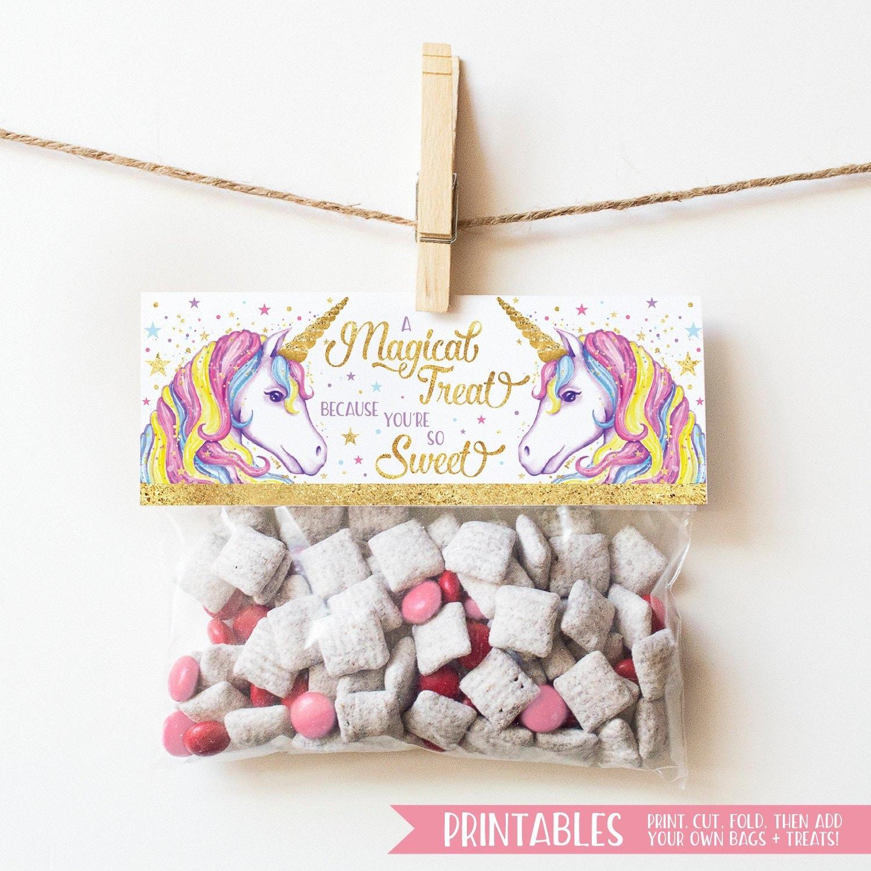 Unicorn Printable Printable Valentine Unicorn Valentine Magical Unicorn Valentine Bag Topper Printable Girls Classroom Valentine