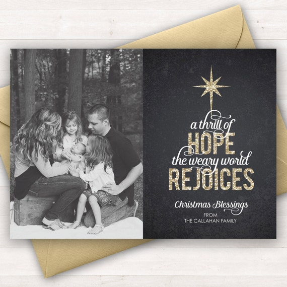 Christian Christmas Greetings.Christian Christmas Cards Religious Holiday Card A Thrill Of Hope Custom Christmas Card Photo Christmas Card Religious Christmas Cards