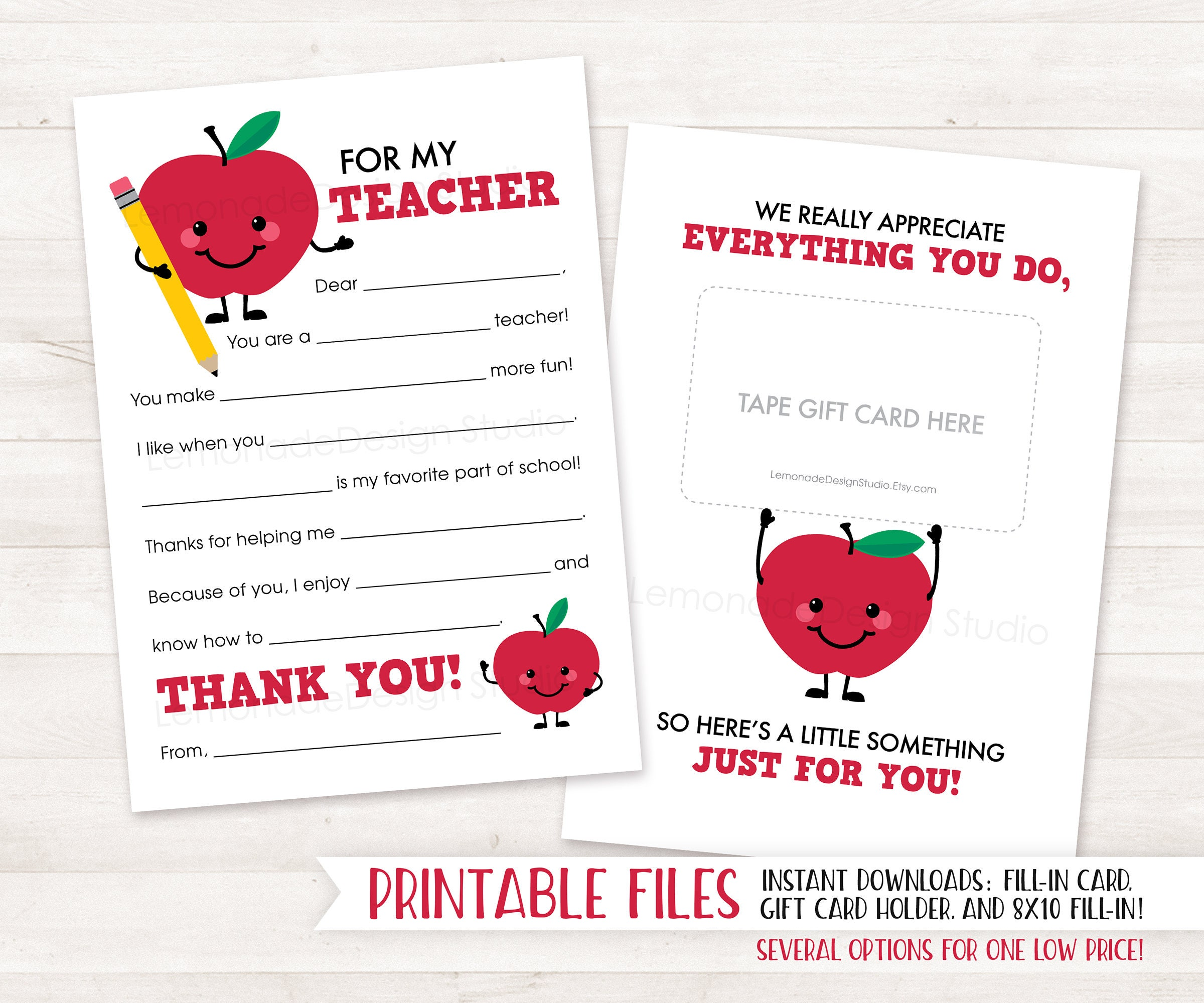 Agile image within printable thank you cards for teachers