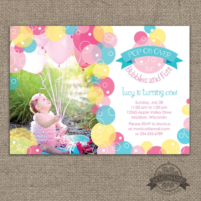 Bubble invitation bubbles birthday party invite pop on etsy image 0 filmwisefo