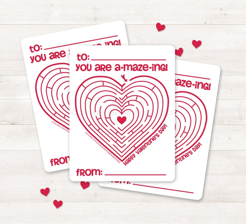 picture relating to Printable Valentine Card for Kids titled Printable Valentine Card, Youngsters Valentine Card, Valentine Maze, Do-it-yourself Valentine Card Immediate Down load, Printable Valentine Card, Valentines Working day